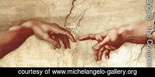 Image result for michelangelo hands painting