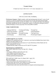 Resume Sample For Nanny Impressive Great Babysitting Resumes In Nanny Sample Of Pics 15