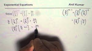 solve exponential equations without logarithms
