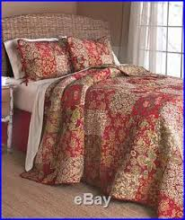 NEW! King Size Bed 3 PC Stratford Patchwork Quilt & 2 Pillow Shams ... & King Size Bed 3 PC Stratford Patchwork Quilt & 2 Pillow Shams Bedding Set Adamdwight.com