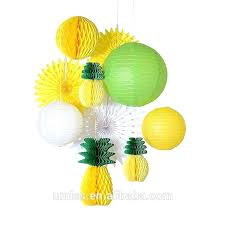 pineapple tissue paper summer party honeycomb pineapple ball paper lantern tissue paper fan party decoration kit