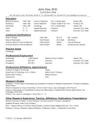 Prepossessing Sample Physician Resume Template For Your Bams Resume
