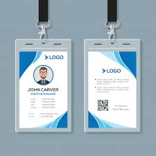 Simple Blue Office Id Card Template Premium Vector Bestgrap