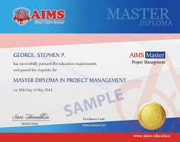 online diploma in project management aims uk sample diploma