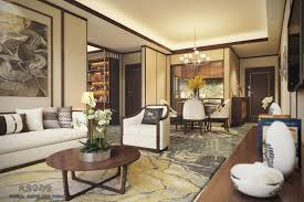 chinese style decor:   beige and yellow chinese interior