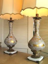 hollywood regency lighting. pair gold hollywood regency lamps c 1940s 50s by groovygirl60 47900 lighting p