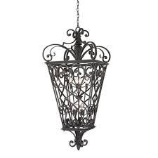 quoizel fort quinn extra large hanging lantern in marcado black