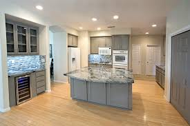 best recessed led light bulbs for small kitchen with grey cabinet and tiny ceramic mosaic tiles