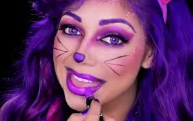 how to perfect the cheshire cat s purple makeup look for ideas wonderhowto