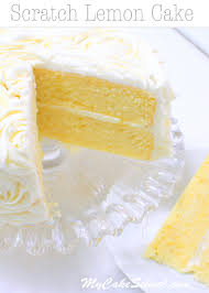 delicious scratch lemon cake recipe by mycakeschool com
