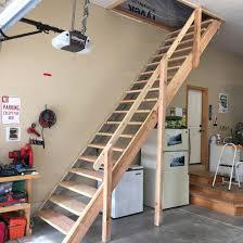 image of garage attic ladder wood