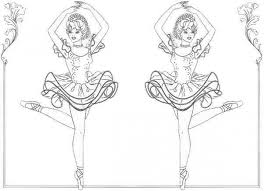Little Girl Ballerina Coloring Pages At Getdrawingscom Free For