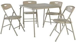 Cosco 5-Piece Folding Table and Chair Set, Antique ... - Amazon.com