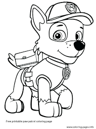 Paw Patrol Colouring Pages Chase Paw Patrol Coloring Pages Coloring