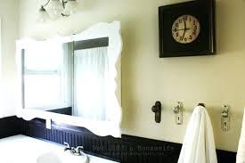 white framed bathroom mirror customized white framed mirror hanging on creamy wall for bathroom mirror frame