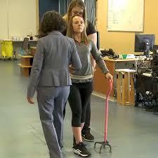 paraplegic woman just took her own first steps