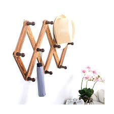 expandable peg rack hook torched wood wall mounted expandable accordion peg coat rack hanger plastic expandable