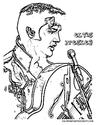 elvis coloring pictures. Exellent Pictures Elvis Presley Hollywood Movie Star Coloring 01 At Pages Book To Pictures T