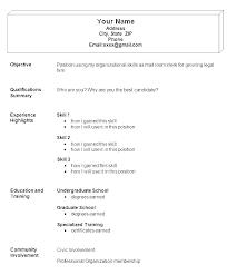 Easy Resume Examples