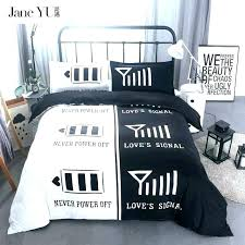 black and white bedding queen king size comforter sets striped