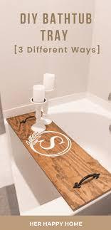 diy bathtub tray using s wood 3
