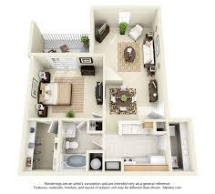 One Bedroom Floor Plan. 1 Bedroom ...