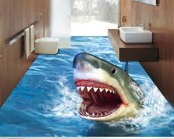 shark wallpaper 3d. Wonderful Shark Decoration Home 3d Flooring Bathroom Terror Shark Wallpaper  Floor Waterproof Self Adhesive Pvc Vinyl Flooringin Wallpapers From Home  On Shark Wallpaper I