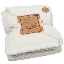 306307 heritage popcorn chenille sherpa throw 125 x