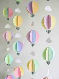 hot air balloon party theme bunting kids party decorationsdiy baby