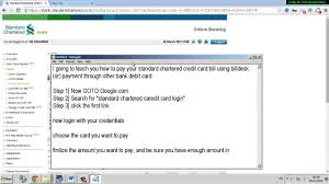 Standard Charted Online Credit Card Payment Standard Chartered Bank Credit Card Online Statement Www