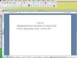 How To Make Work Cited Page How To Create A Works Cited Page In Mla 6 Part I
