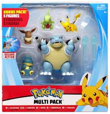 Pokemon Blastoise, Larvitar, Eevee, Munchlax Pikachu Exclusive 3 Multi  Figure 5-Pack Wicked Cool Toys - ToyWiz