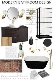 Bathroom Remodel Layout Impressive One Room Challenge Week One Modern Bathroom Design Love Create