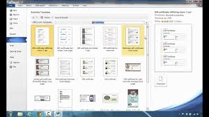 Microsoft Word Templates Gift Certificates How To Create Gift Certificates In Microsoft Word 2010 Youtube