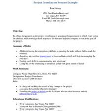 87 Project Coordinator Resume Example Sample Resume