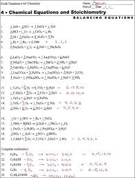 balancing equations worksheet 1 answers year 9 chemistry worksheets grade chemical