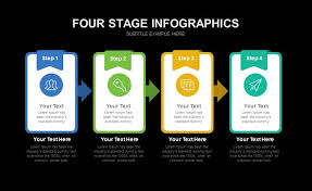 Powerpoint Infographic Template Free Four Stage Infographic Template For Powerpoint Presentation