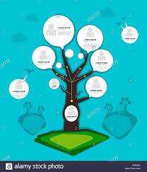 Organization Chart Tree Concept Group Layer In File Stock