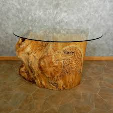 tree trunk furniture for sale. Carved Eagle Tree Trunk Table For Sale #16891 @ The Taxidermy Store Furniture R