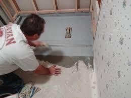 inline drain installed setting membrane