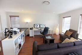 Living Room New Office Combo Design Ideas Modern