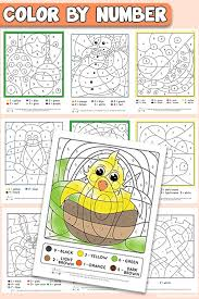 Free printable christmas coloring pages. Free Printable Color By Number Worksheets Itsybitsyfun Com