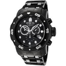 invicta men s watches shop the best deals for 2017 invicta men s pro diver chronograph black ip stainless steel watch