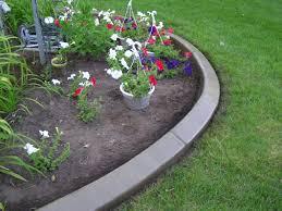 concrete flower bed edging image and description