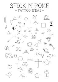 Simple Stick And Poke Designs Designing A Few Stick N Poke Tattoo Ideas Hope You Like