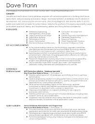 Database Engineer Sample Resume 14 Resume Templates Database