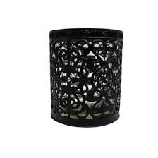 Moroccan Style Filigree Candle Holder - Black