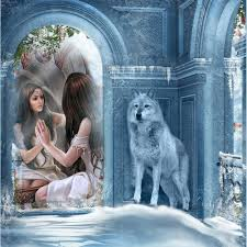 5D Diamond Girl Wolf Painting DIY Embroidery Cross Stitch Kit. Wolf Bedroom  Decor Home Design And Idea