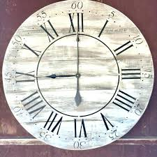 oversized vintage style painted wood wall clock and metal large tides wooden extra
