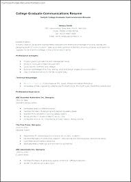Resume Templates For College Students Resume Samples For College